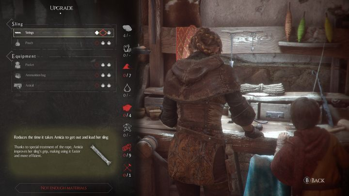The game offers you a number of upgrades for the equipment and movement - Starting tips for A Plague Tale - The Basics - A Plague Tale Guide