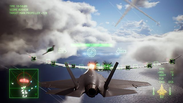 Keep switching targets until you lock the camera on the main propellers. - How to defeat Arsenal Bird boss in Ace Combat 7 Skies Unknown? - Air combat - Ace Combat 7 Skies Unknown Guide