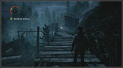 Another sheet lies on a wooden platform, near the generator with which you turn on the light post in order to destroy the haunted gate - Manuscript - Episode 4: The Truth - Manuscript - Alan Wake - Game Guide and Walkthrough
