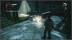 Another page lies on the ground, in the garden, you can collect it after destroying the haunted gate with your flashlight - Manuscript - Episode 4: The Truth - Manuscript - Alan Wake - Game Guide and Walkthrough