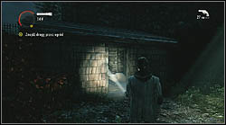 Next sheet lies in a shed, in front of a light post, which you can see after defeating one Hartman's thugs - Manuscript - Episode 4: The Truth - Manuscript - Alan Wake - Game Guide and Walkthrough