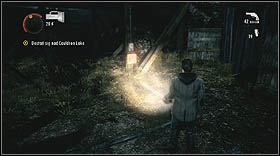 Search the area in order to find some useful equipment - Walkthrough - Episode 6: Departure - Walkthrough - Alan Wake - Game Guide and Walkthrough