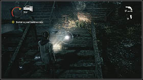 You'll reach a crane, and a rail wagon will fall from the sky right next to you - Walkthrough - Episode 6: Departure - Walkthrough - Alan Wake - Game Guide and Walkthrough
