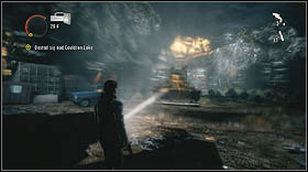 Turn on the generator and climb down back to the ground - Walkthrough - Episode 6: Departure - Walkthrough - Alan Wake - Game Guide and Walkthrough