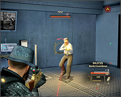 After initially securing the area, look for a computer in the eastern part of the room (M21A, 24) and hack into it, thanks to which you will disable all nearby security system - Walkthrough - The finale - Infiltrate Alpha Protocol - Walkthrough - The finale - Alpha Protocol: The Espionage RPG - Game Guide and Walkthrough