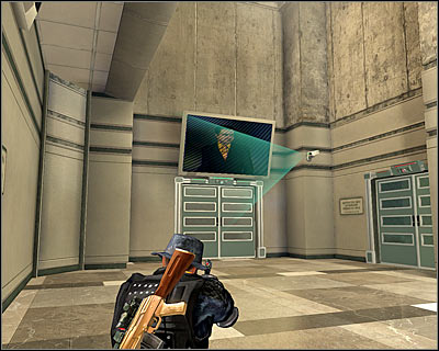 After securing the area head south, go up the stairs onto the upper balcony and use the nearest passage (M21A, 8) - Walkthrough - The finale - Infiltrate Alpha Protocol - Walkthrough - The finale - Alpha Protocol: The Espionage RPG - Game Guide and Walkthrough