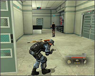 Look out, as after you finish the conversation the enemies will use a flash grenade and you will have to defend from their attack - Walkthrough - The finale - Infiltrate Alpha Protocol - Walkthrough - The finale - Alpha Protocol: The Espionage RPG - Game Guide and Walkthrough