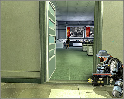 After getting out of the elevator, get ready to eliminate the enemies patrolling the nearby corridor and those in the northern corridor, where you should now head - Walkthrough - The finale - Infiltrate Alpha Protocol - Walkthrough - The finale - Alpha Protocol: The Espionage RPG - Game Guide and Walkthrough