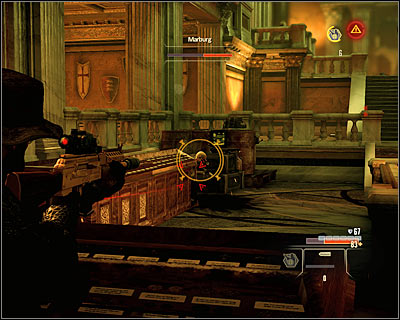 The boss battle with Marburg is quite hard and can be played in two basic ways - Walkthrough - Rome - Intercept Marburg at Museum of Art - Walkthrough - Rome - Alpha Protocol: The Espionage RPG - Game Guide and Walkthrough