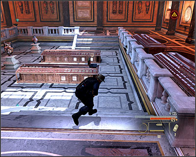 Begin with eliminating the closest guard - Walkthrough - Rome - Intercept Marburg at Museum of Art - Walkthrough - Rome - Alpha Protocol: The Espionage RPG - Game Guide and Walkthrough