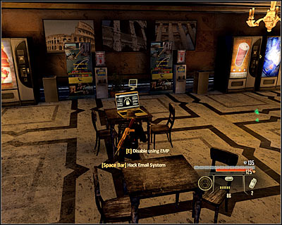 After the fight's over, go to the cafe (M14A, 15) and look for a laptop (M14A, 17) - Walkthrough - Rome - Intercept Marburg at Museum of Art - Walkthrough - Rome - Alpha Protocol: The Espionage RPG - Game Guide and Walkthrough