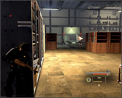 There's a couple of enemies in the next room (M14A, 8) and eliminating them can be very hard - they're standing really close to each other - Walkthrough - Rome - Intercept Marburg at Museum of Art - Walkthrough - Rome - Alpha Protocol: The Espionage RPG - Game Guide and Walkthrough