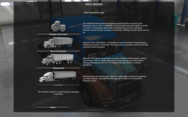 Gearbox types | Game configuration - American Truck