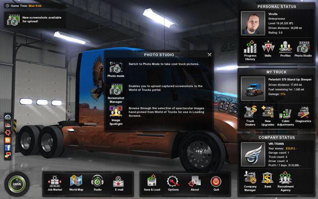Photo studio | Interface - American Truck Simulator Game