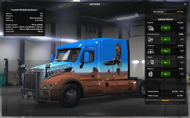 Repairing and modifying the truck driving your truck for Car paint simulator