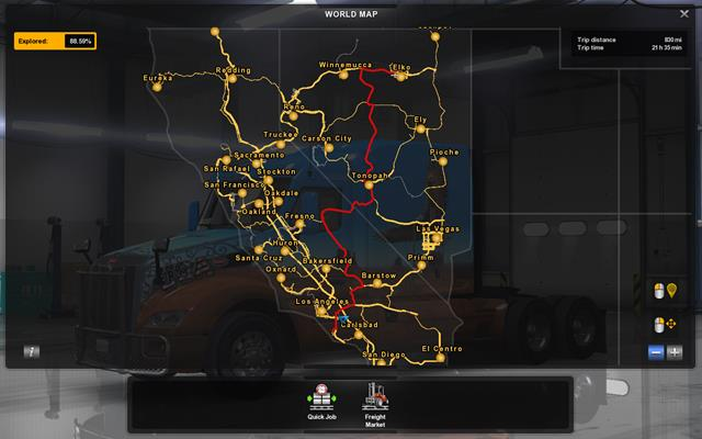Map and legend   Game world   American Truck Simulator Game Guide