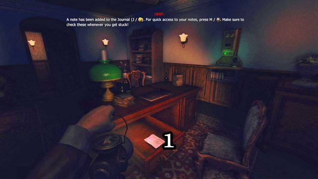 La nota siguiente está en el primer cajón del escritorio en la habitación con los rifles que cuelgan en la pared [1] (7 de noviembre de 1898) - la residencia - parte una   Collectibles - Collectibles - Amnesia: Una máquina para los cerdos