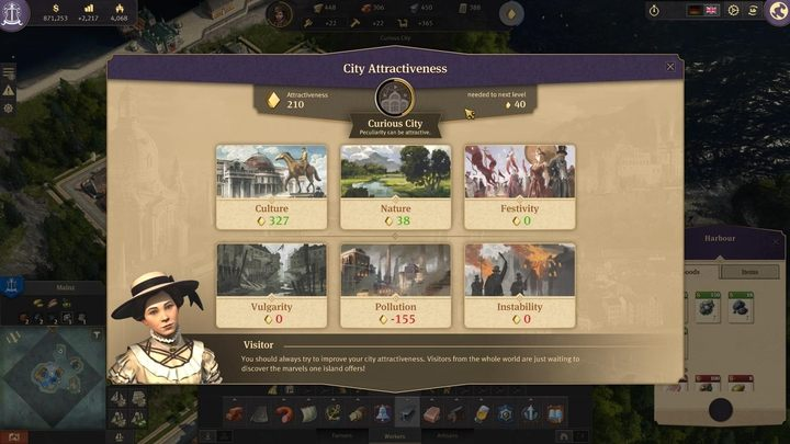 City attractiveness - Anno 1800 - important new features - Basics - Anno 1800 Game Guide