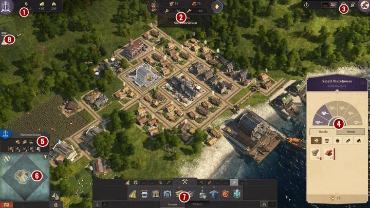 1 - Interface in Anno 1800 - Basics - Anno 1800 Game Guide