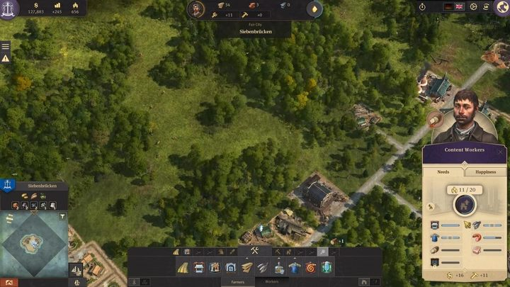 Click on a house or a dweller, and you will be provided with settlers needs and happiness level on the right side of the screen - Development and dwellers needs in Anno 1800 - Basics - Anno 1800 Game Guide