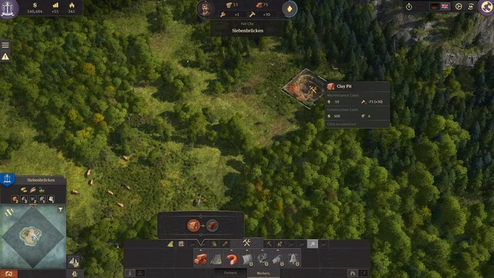 Once you have your workers, you can build a clay pit - 5 steps to build an epic empire in Anno 1800 - City management - Anno 1800 Game Guide