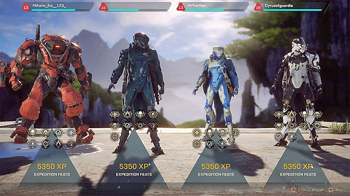 You get XP after you complete a mission or end Freeplay mode - Anthem Guide