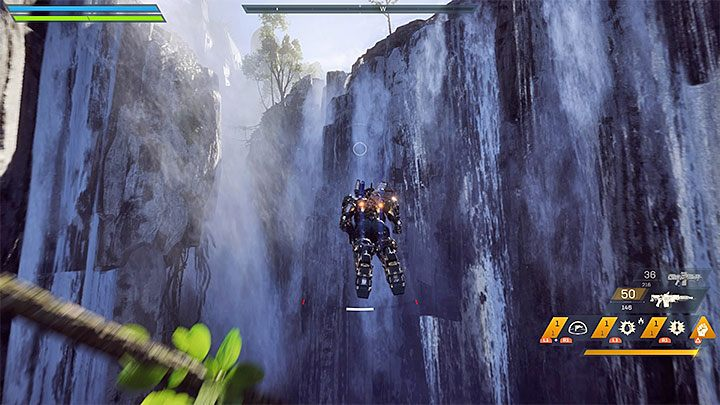 The third method allows you to cool down thrusters immediately - you have to fly through a waterfall - How to extend the flight time in Anthem? - FAQ - Anthem Guide
