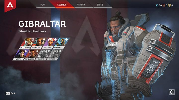 If you are more versed towards defense, like to focus the enemy attention on yourself and protect more vulnerable comrades, choose Gibraltar - Starting tips for Apex Legends - Starting tips - Apex Legends Guide