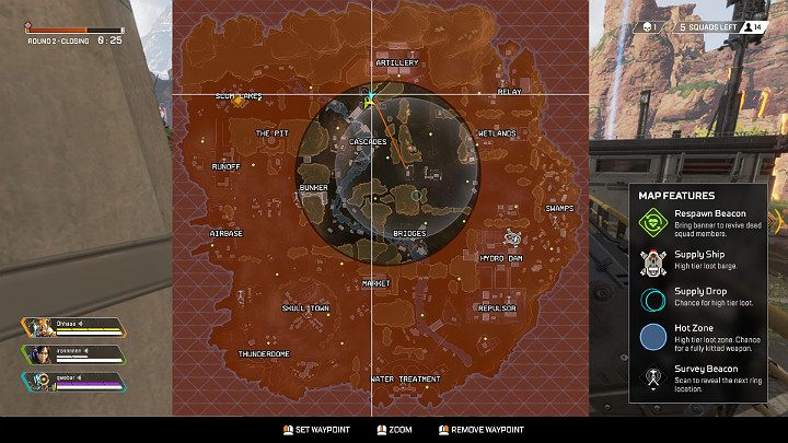 After the end of round 2, youll be informed about the Arena ring becoming smaller - Round 2 in Apex Legends - The match and rounds - Apex Legends Guide