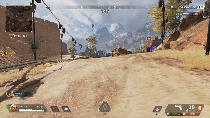 Running around open areas, such as roads or desert makes you a very easy target - Things you should NOT do in Apex Legends - Starting tips - Apex Legends Guide