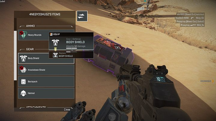 When you eliminate an opponent, he will drop his equipment behind - Things you should NOT do in Apex Legends - Starting tips - Apex Legends Guide