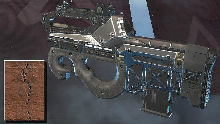 The screenshot above shows the spray pattern of Prowler Burst PDW (medium distance) - SMG in Apex Legends - Weapons - Apex Legends Guide