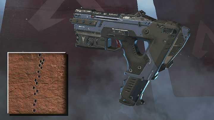 The screenshot above shows the spray pattern of Alternator (medium range) - SMG in Apex Legends - Weapons - Apex Legends Guide