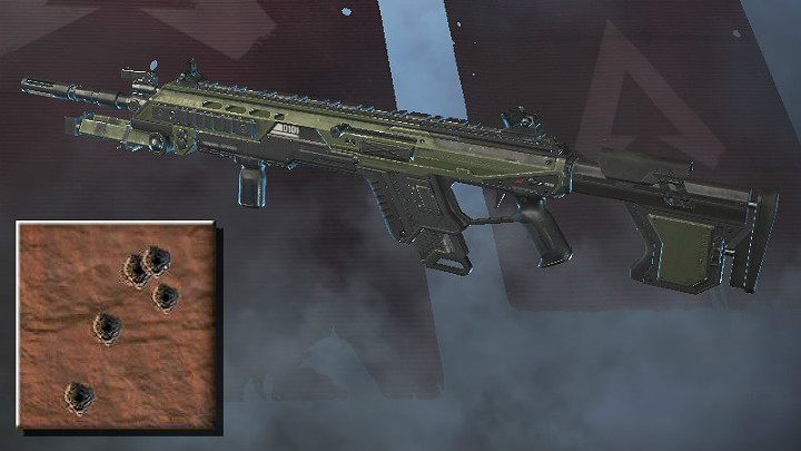 The screenshot above shows the spray pattern for Longbow DMR - Sniper rifles in Apex Legends - Weapons - Apex Legends Guide