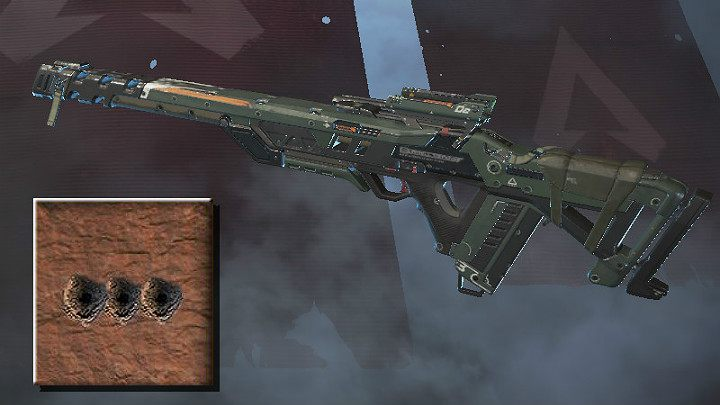 The screenshot above shows the spray pattern for Triple Take - Sniper rifles in Apex Legends - Weapons - Apex Legends Guide