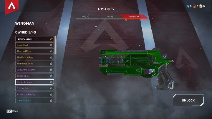 In the game, you will find three models of guns - P2020, RE-45, and WINGMAN - The best weapons in Apex Legends - Starting tips - Apex Legends Guide