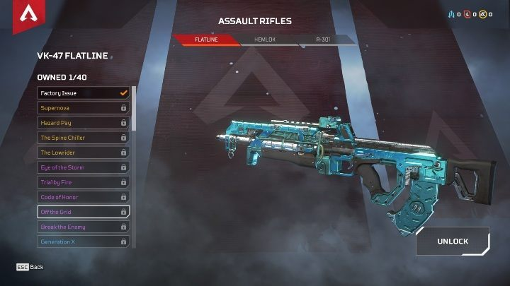 In the game, you will find three models of assault rifles - R-301, HEMLOCK, and FLATLINE - The best weapons in Apex Legends - Starting tips - Apex Legends Guide