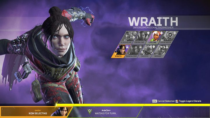 Wraith is an offensive Legend - Wraith - Interdimensional Skirmisher | Heroes Apex Legends - Legends - Apex Legends Guide