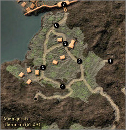 2 - Maps | Thorniara Main Quests - Thorniara - Arcania: Gothic 4 Game Guide