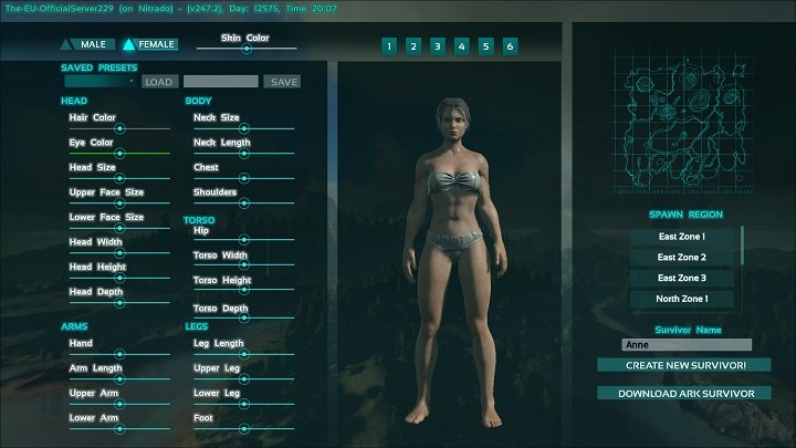 ... ARK: Survival Evolved Guide. You Can Customize Both The Gender Of Your  Character, As Well As The Type Of