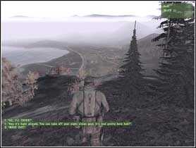 Going on Pik Kozlova is sheer, there are some enemies on top of the hill [1] - Campaign - Mission 2 - Into the Storm - Campaign - ArmA II - Game Guide and Walkthrough