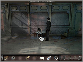 She then takes her findings back to the center of the room and decides to take a look at the victim (on the right) - Paris, France, April 15-17, 2008 - Ballet room - April 15-17, 2008 - Art of Murder: Hunt For The Puppeteer - Game Guide and Walkthrough