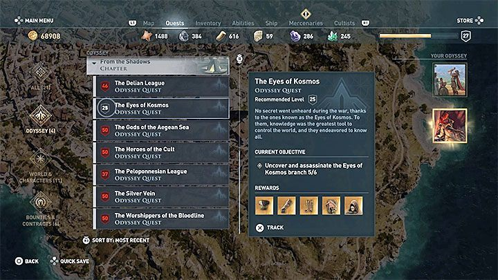 You can easily get this trophy by completing quests related to the Cultists of Kosmos, namely The Eyes of Kosmos - Fashions Creed Trophy - Assassins Creed Odyssey Trophy guide - Trophy Guide - Assassins Creed Odyssey Guide