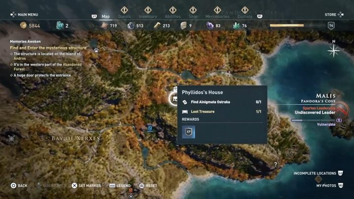 1 - Malis - Ainigmata Ostraka in Assassins Creed Odyssey Game - Ainigmata Ostraka - Assassins Creed Odyssey Guide