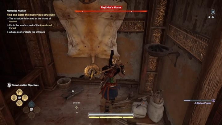 Location of Ainigmata Ostraka: House of Phyllidos, inside the building - Malis - Ainigmata Ostraka in Assassins Creed Odyssey Game - Ainigmata Ostraka - Assassins Creed Odyssey Guide