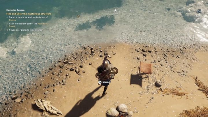 How to solve the riddle: Go to a small islet, that looks like a top of a rod and a lure - Malis - Ainigmata Ostraka in Assassins Creed Odyssey Game - Ainigmata Ostraka - Assassins Creed Odyssey Guide