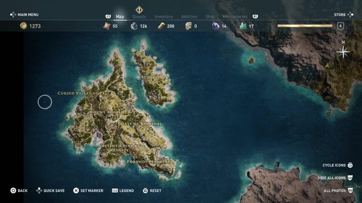 The first location can be explored right after completing the first quest - Can I freely explore the world in Assassins Creed Odyssey? - FAQ - Assassins Creed Odyssey Guide