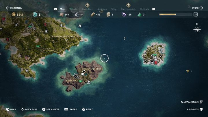You are separated from another location by the deep sea - Can I freely explore the world in Assassins Creed Odyssey? - FAQ - Assassins Creed Odyssey Guide