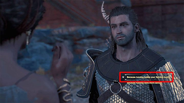 During the first meeting with Zopheras there is an opportunity to choose a dialog option marked with a heart icon - it is shown in the attached picture - Zopheras - Romances in Assassins Creed Odyssey - Romances - Assassins Creed Odyssey Guide