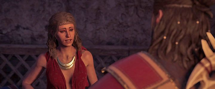 Aikaterine is an Athens resident who works in the house of fun and muse for Thespis in Assassins Creed: Odyssey - Aikaterine - Romances in Assassins Creed Odyssey - Romances - Assassins Creed Odyssey Guide